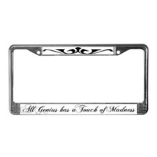 Genius Madness License Plate Frame