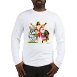 Easter Bunny, Jesus, Santa Cl Long Sleeve T-Shirt