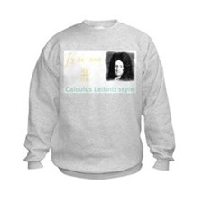 Calculus Leibniz style (dark background) Sweatshirt