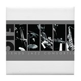 Friends Jazz Consortium in Grayscale Tile Coaster