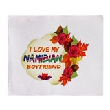 Namibian Boyfriend designs Throw Blanket