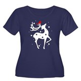 Winter Reindeer Plus Size T-Shirt