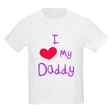 I Love My Daddy Kids T-Shirt