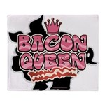 Bacon Queen Throw Blanket