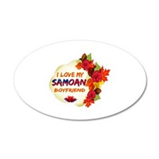 Samoan Boyfriend designs Wall Decal