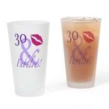 30 And Fabulous! Drinking Glass