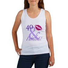 40 And Fabulous! Women's Tank Top