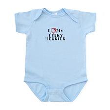 I Heart My Cesky Terrier Infant Bodysuit