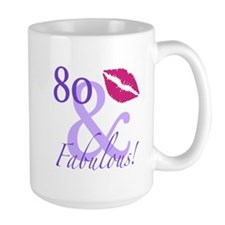 80 And Fabulous! Mug