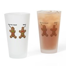 Gingerbread Lend A Hand Funny T-Shirt Drinking Gla