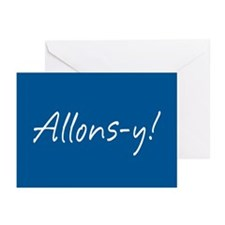 French Allons-y Greeting Cards (Pk of 10)