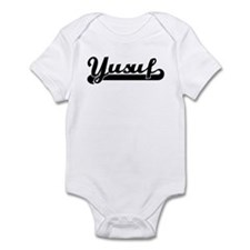 Black jersey: Yusuf Infant Bodysuit
