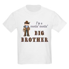 Cowboy Rootin Tootin Big Brother T-Shirt