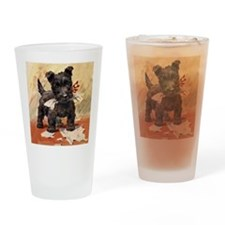 Cute Scottie art Drinking Glass