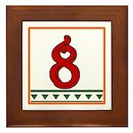 Red Italian Letter Framed Tile