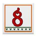 Red Italian Letter Tile Coaster