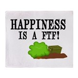 Happiness is A FTF Throw Blanket