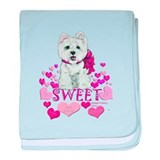 Westie Valentine Candy baby blanket