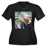 Hyacinth Macaw - Pam Women's Plus Size V-Neck Dark