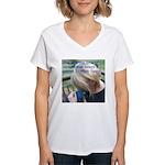 Hyacinth Macaw - Pam Women's V-Neck T-Shirt