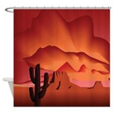 Desert in Shades of Wine Shower Curtain