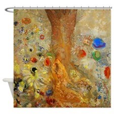 Odilon Redon Buddha In His Youth Shower Curtain