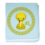 Cute Chinese Year of the Snake baby blanket