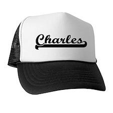Black jersey: Charles Trucker Hat