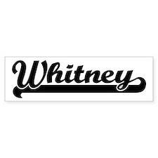 Black jersey: Whitney Bumper Bumper Sticker