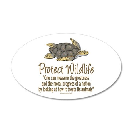 Protect Sea Turtles 35x21 Oval Wall Decal