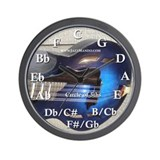 Circle of 5ths Blueburst Mandolin Wall Clock