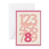 Happy Birthday 8 Year Old Girl Greeting Cards (Pk