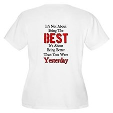 Better Than Yesterday Women's + Size Scoop Neck T