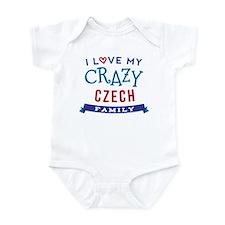 I Love My Crazy Czech Family Infant Bodysuit
