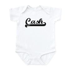 Black jersey: Cash Infant Bodysuit
