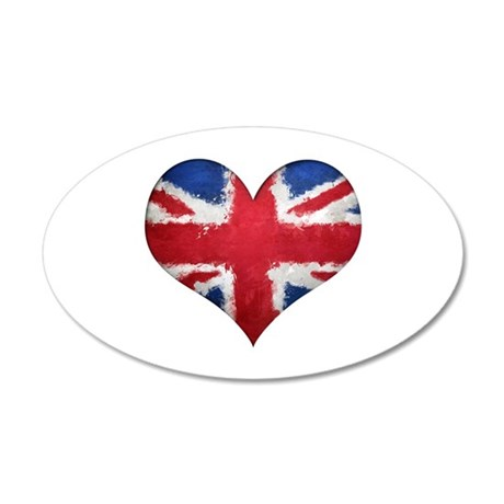 British heart 35x21 Oval Wall Decal