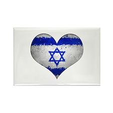 Israeli heart Rectangle Magnet