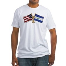 El-Salvador America Friend ship flag. Shirt