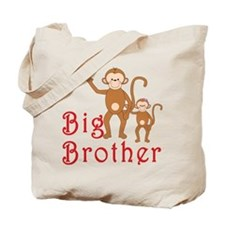 Big Brother Cute Monkeys 2 Tote Bag