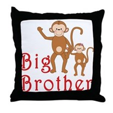 Big Brother Cute Monkeys 2 Throw Pillow