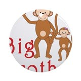 Big Brother Cute Monkeys 2 Ornament (Round)