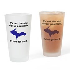 It's not the size of your peninsula Drinking Glass