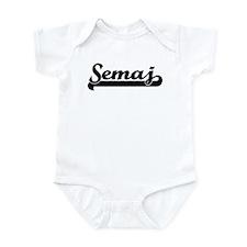 Black jersey: Semaj Infant Bodysuit