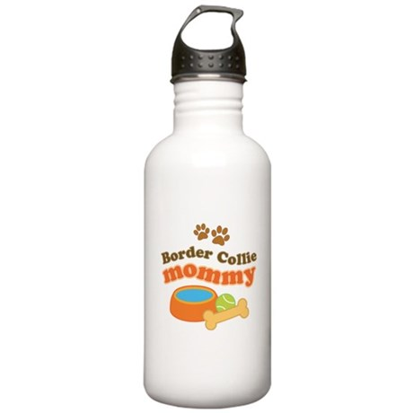 Border Collie Mom Stainless Water Bottle 1.0L