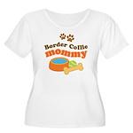 Border Collie Mom Women's Plus Size Scoop Neck T-S