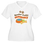 Border Collie Mom Women's Plus Size V-Neck T-Shirt