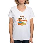Border Collie Mom Women's V-Neck T-Shirt