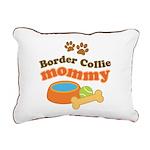 Border Collie Mom Rectangular Canvas Pillow
