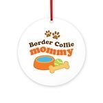 Border Collie Mom Ornament (Round)