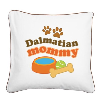 Dalmatian Mom Square Canvas Pillow
